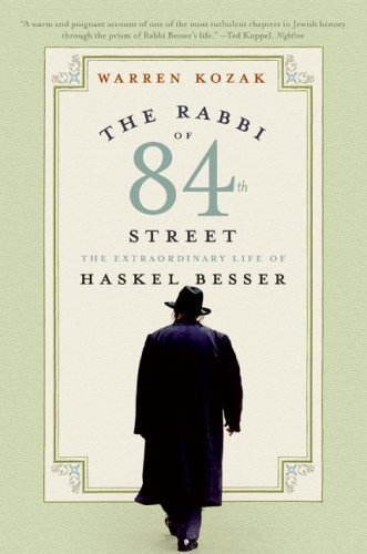 Rabbi of 84th Street The Extraordinary Life of Haskel Besser N/A 9780060511029 Front Cover