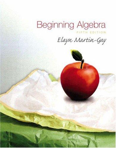 Beginning Algebra  5th 2009 edition cover