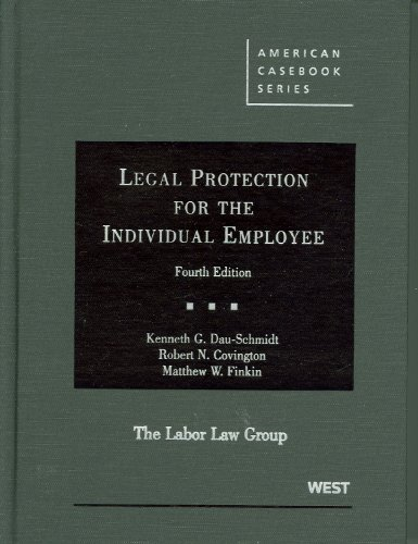 Legal Protection for the Individual Employee  4th (Revised) edition cover
