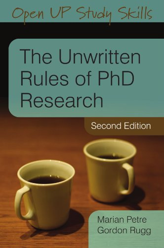 Unwritten Rules of PhD Research  2nd 2010 edition cover