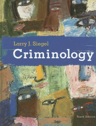 Criminology - The Core  10th 2009 edition cover