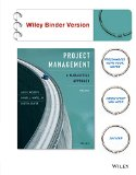 Project Management A Managerial Approach 9th 2014 9781118947029 Front Cover