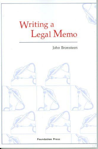 Writing a Legal Memo   2006 edition cover