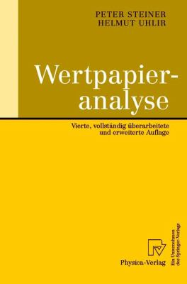 Wertpapieranalyse  4th 2001 9783790813029 Front Cover