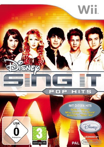 DISNEY SING IT: POP HITS Nintendo Wii artwork
