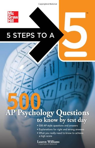 500 AP Psychology Questions to Know by Test Day   2011 edition cover