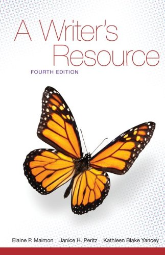Writer's Resource  4th 2012 (Student Manual, Study Guide, etc.) edition cover