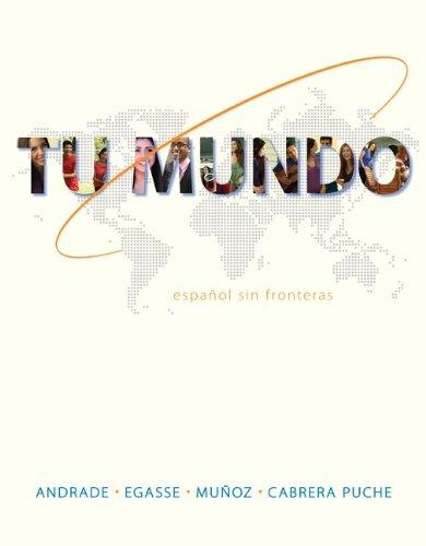 Tu Mundo Espa�ol Sin Fronteras  2014 edition cover