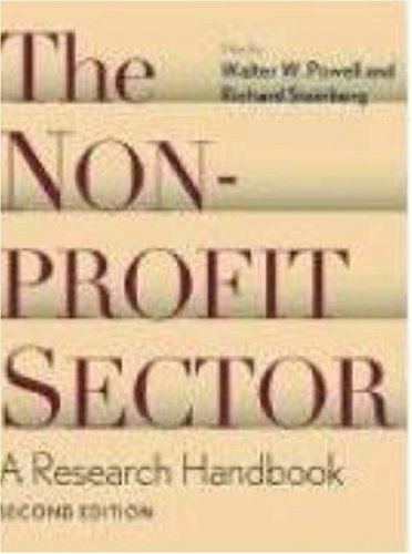 Nonprofit Sector A Research Handbook 2nd 2006 (Handbook (Instructor's)) edition cover