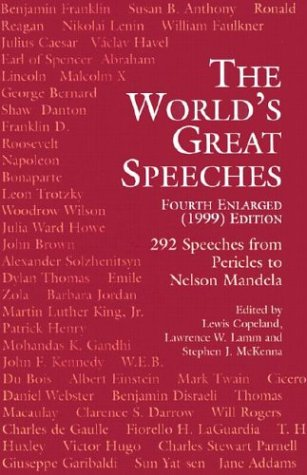 World's Great Speeches 1999  4th 1999 edition cover