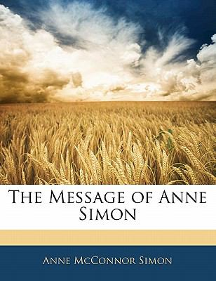 Message of Anne Simon N/A edition cover