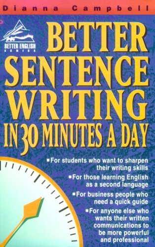 Better Sentence Writing in 30 Minutes a Day   1997 edition cover