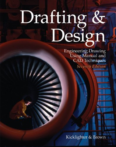 Drafting and Design Engineering Drawing Using Manual and CAD Techniques 7th 2008 edition cover