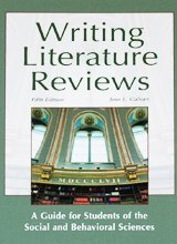 Writing Literature Reviews: A Guide for Students of the Social and Behavioral Sciences  2012 edition cover