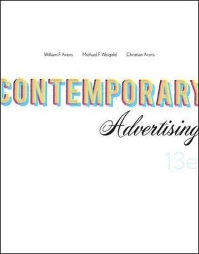 Contemporary Advertising  13th 2011 edition cover