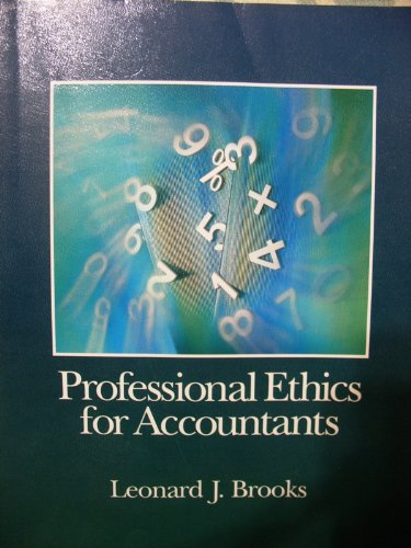 Professional Ethics in Accounting  1st 9780314046031 Front Cover