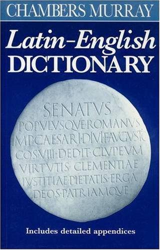 Chambers Murray Latin-English Dictionary   1994 edition cover