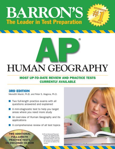 Barron's AP Human Geography with CD-ROM  3rd 2010 (Revised) edition cover