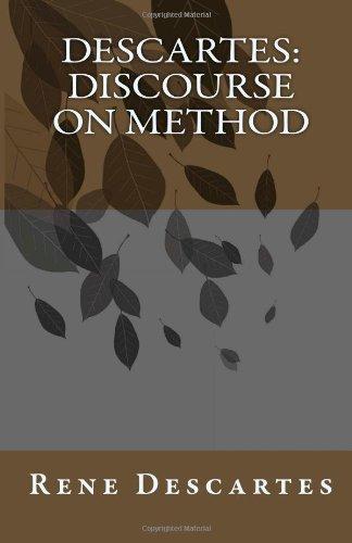 Descartes: Discourse on Method  N/A edition cover