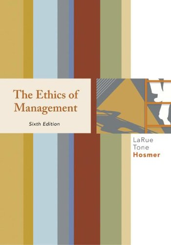Ethics of Management  6th 2008 9780073405032 Front Cover