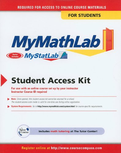 MyStatLab Student Access Code Card for Statistics for Managers Using Microsoft Excel (standalone)  6th 2011 9780132157032 Front Cover