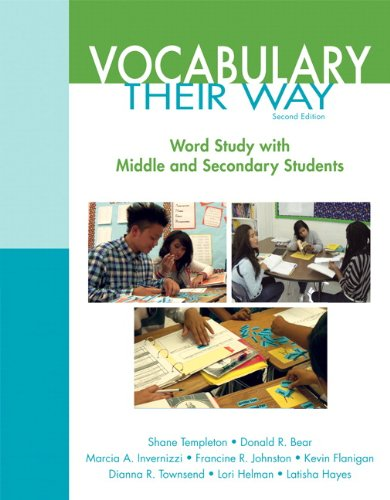 Vocabulary Their Way Word Study with Middle and Secondary Students 2nd 2015 edition cover