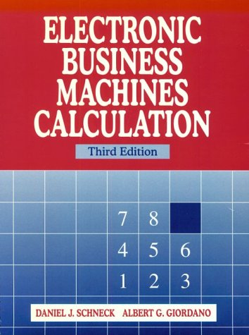 Electronic Business Machines Calculation  3rd 1997 (Revised) edition cover