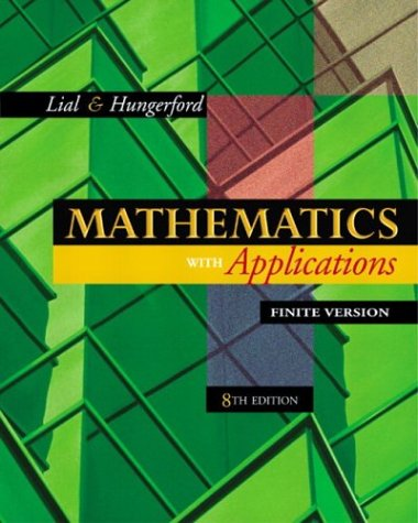 Mathematics with Applications, Finite Version  8th 2003 (Revised) edition cover
