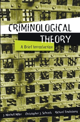 Criminological Theory A Brief Introduction  2006 edition cover