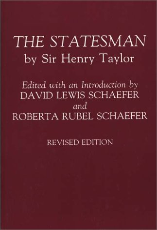 Statesman By Sir Henry Taylor 2nd (Revised) 9780275944032 Front Cover