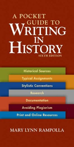 Pocket Guide to Writing in History  6th 2010 edition cover