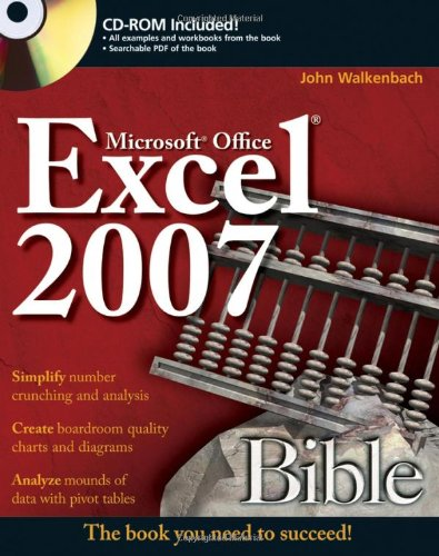 Excel 2007 Bible   2007 edition cover