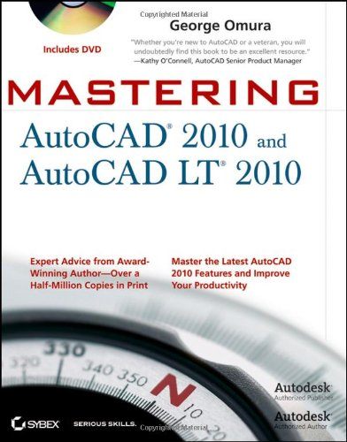 Mastering AutoCAD 2010 and AutoCAD LT 2010   2009 edition cover