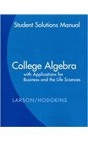 College Algebra with Applications for Business and Life Sciences   2009 9780547070032 Front Cover