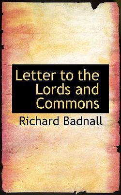 Letter to the Lords and Commons:   2008 edition cover