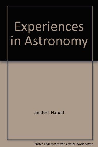 Experiences in Astronomy Laboratory Manual  3rd (Revised) edition cover