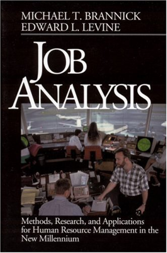 Job Analysis Methods, Research, and Applications for Human Resource Management in the New Millennium  2002 edition cover