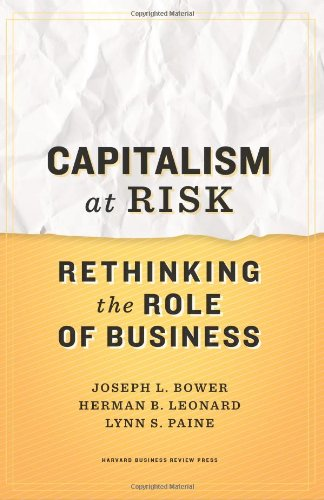 Capitalism at Risk Rethinking the Role of Business  2011 edition cover