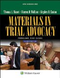 Materials in Trial Advocacy Problems and Cases 8e 8th edition cover