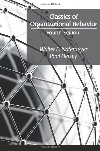 Classics of Organizational Behavior  4th 2011 edition cover