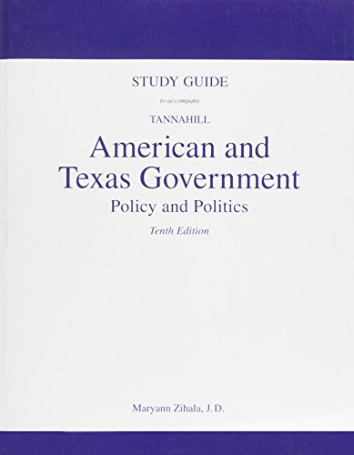 American and Texas Government: Policy and Politics 10th 2009 9780205759033 Front Cover