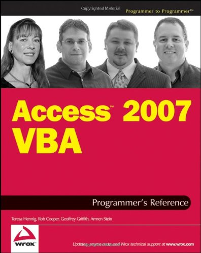 Access 2007 VBA Programmer's Reference  2nd 2007 edition cover