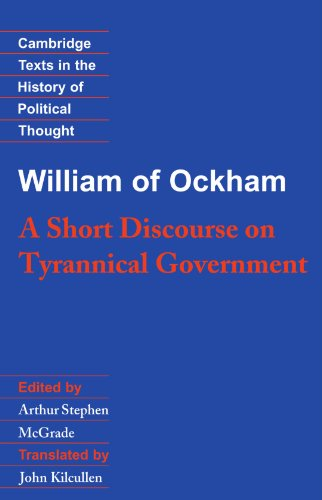 William of Ockham A Short Discourse on Tyrannical Government  1992 edition cover