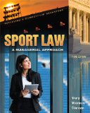 Sport Law: A Managerial Appraoch  2014 9781621590033 Front Cover