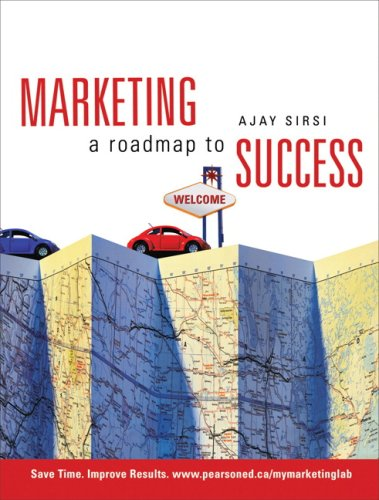 MARKETING A ROADMAP TO SUCCESS N/A 9780135066034 Front Cover