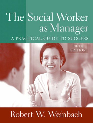 Social Worker as Manager A Practical Guide to Success 5th 2008 edition cover