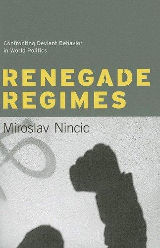 Renegade Regimes Confronting Deviant Behavior in World Politics  2007 9780231137034 Front Cover
