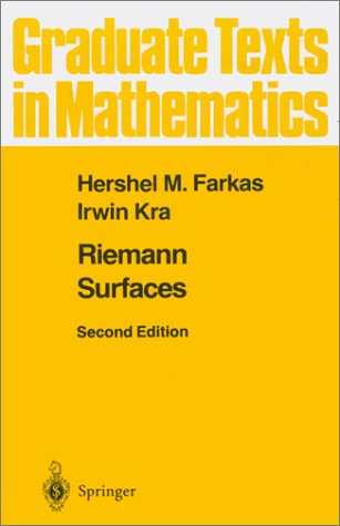 Riemann Surfaces  2nd 1992 (Revised) edition cover