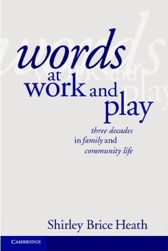 Words at Work and Play Three Decades in Family and Community Life  2012 edition cover