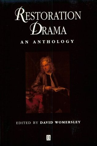 Restoration Drama An Anthology  2000 edition cover